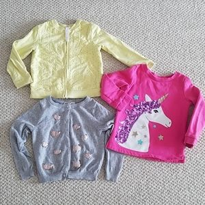Kids Carter's, HM, and Cherokee sweaters
